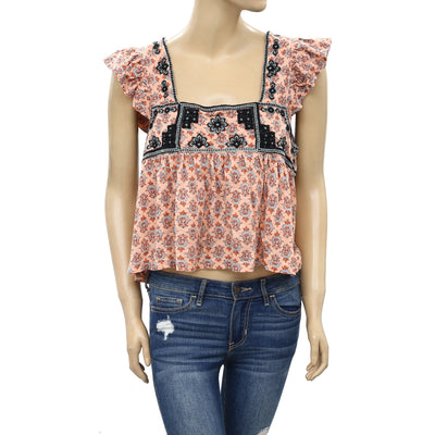 Free People Day Trippin Crop Tank Top S