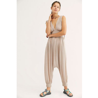 Free People Waiting For The Sun Triangle Jumpsuit S