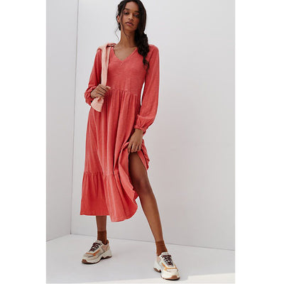 Saturday Sunday Anthropologie Arlo Tiered Midi Dress L