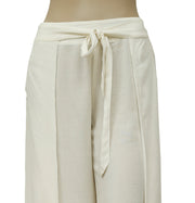 Free People Smocked Ivory Wide Leg Pajama Pant XS