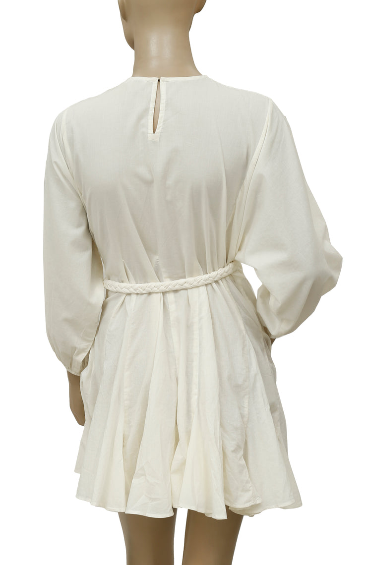 Rhode Resort Ella Belted Ivory Mini Dress XS