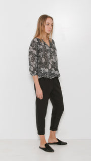 Ulla Johnson Kei Java Printed Blouse Top Lace Cotton Summer S NWT