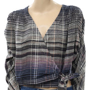 Free People We The Free Maldives Wrap Blouse Top S