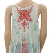 Free People FP New Romantics Embroidered Blouse Top S