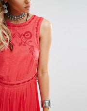 Free People Birds Of A Feather Embroidered Mini Dress XS/S