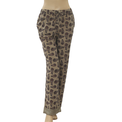 Intimately Free People Floral Printed Trouser Pants S