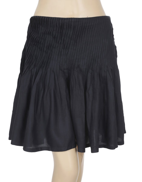 Anthropologie Pleated Black Skort Shorts Small S