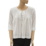 Des Petits Hauts Ritchi Buttondown Blouse Shirt Top White Cotton S NWT