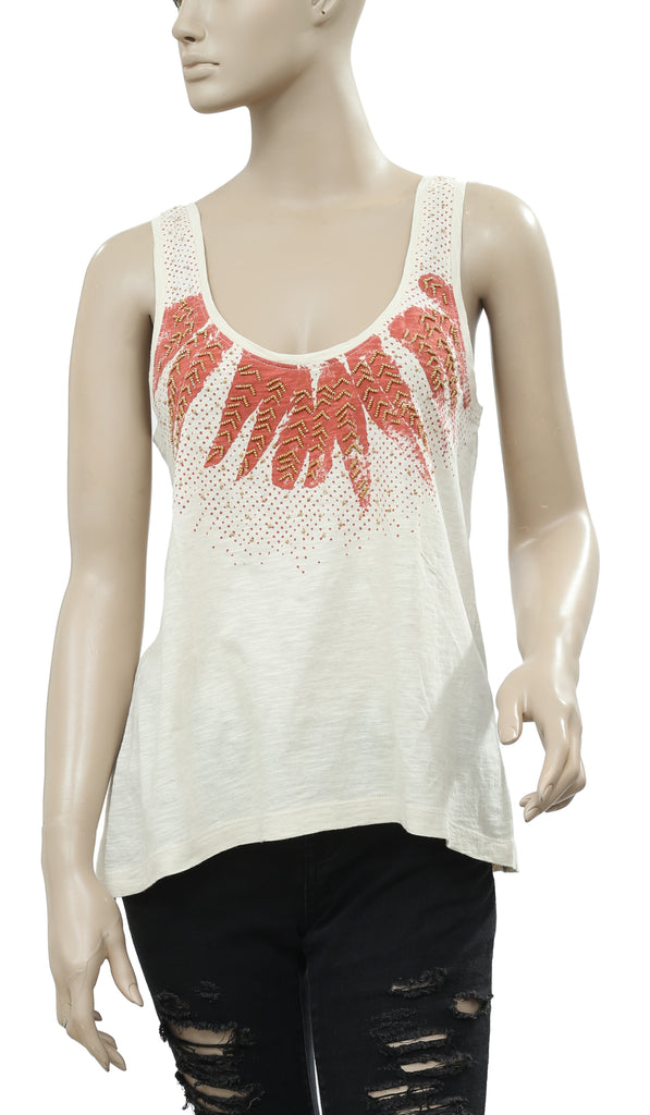b198be4b Ecote Urban Outfitters Embellished Beige Blouse Top M – White Chocolate  Couture
