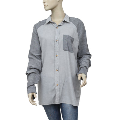Urban Outfitters Koto Buttondown Long Sleeve Tunic Top M