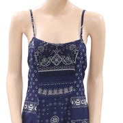 Denim & Supply Ralph Lauren Printed Navy Slip Mini Dress XS