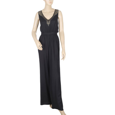 Ecote Urban Outfitter Val Metal Embellished Jumpsuit Black Dress S