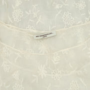Mes Demoiselles Paris Floral Embroidered Ivory Tunic Dress S