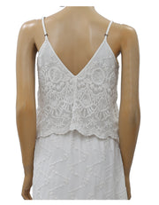Kimchi Blue Urban Outfitters Mesh Embroidered Mini White Dress Boho S