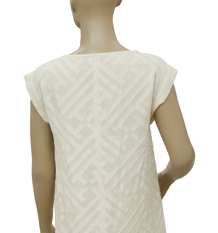 Leo & Sage Lace Sleeveless Ivory Dress S