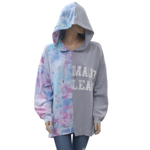 Free People Women's Two Of A Kind Oversized Graphic Hoodie Sweatshirt S