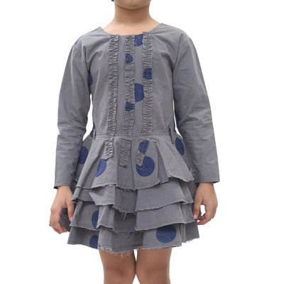 Ewa I Walla Kids Girl Vintage Lagenlook Mini Dress 3 Years