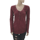 New Free People Embroidered Lace Bloused Top Extra Small XS