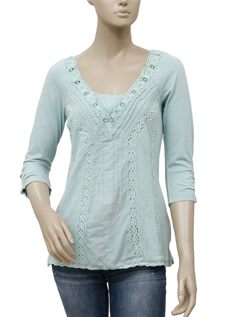 c184fa8ee88ac6 Meadow Rue Anthropologie Lace Medley Top S – White Chocolate Couture