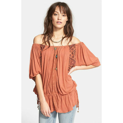 Free People New World Butterfly Tunic Top M