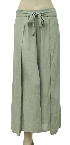 Free People Smocked Green Wide Leg Pajama Pant S