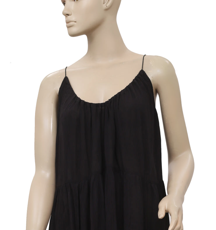 Free People Endless Summer Sleeveless Black Hugh Low Mini Dress S