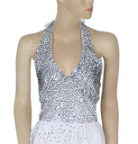 Guess Jeans Los Angeles Embellished White Halter Dress S