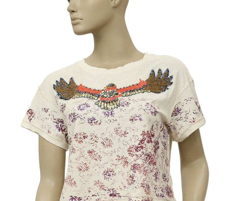 Free People We The Free Embellished Printed Top S