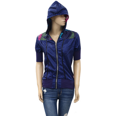Desigual Kids Girl Floral Printed Blue Jacket Hoodie Top 13-14 Years