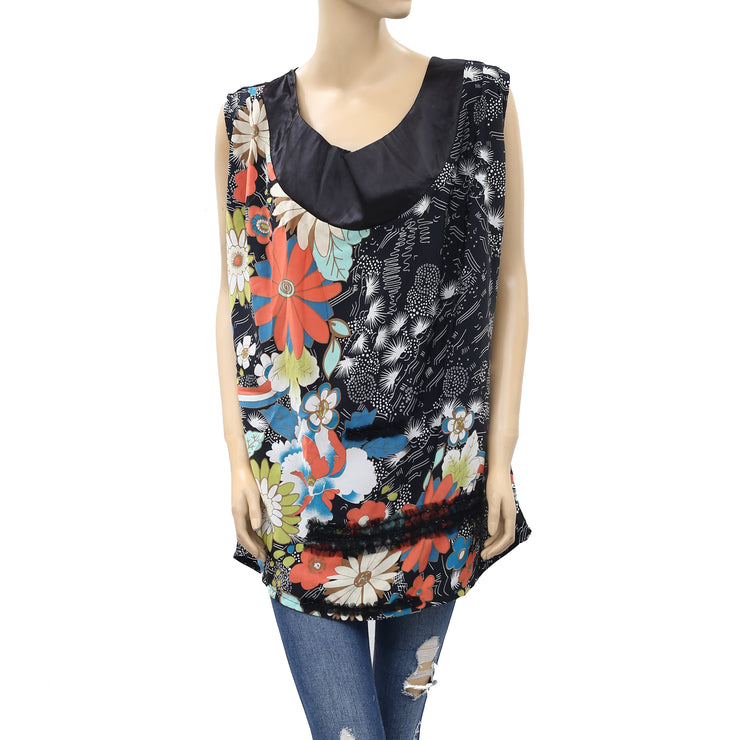 Uttam Boutique Beaded Embellished Tunic Top M