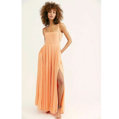 Free People Yes Please Endless Summer Paloma Tie Back Maxi Dress M