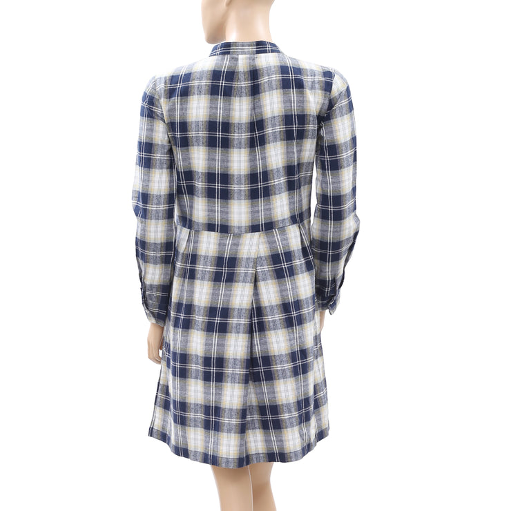 Nué Notes Plaid & Check Printed Tunic Dress XS-34