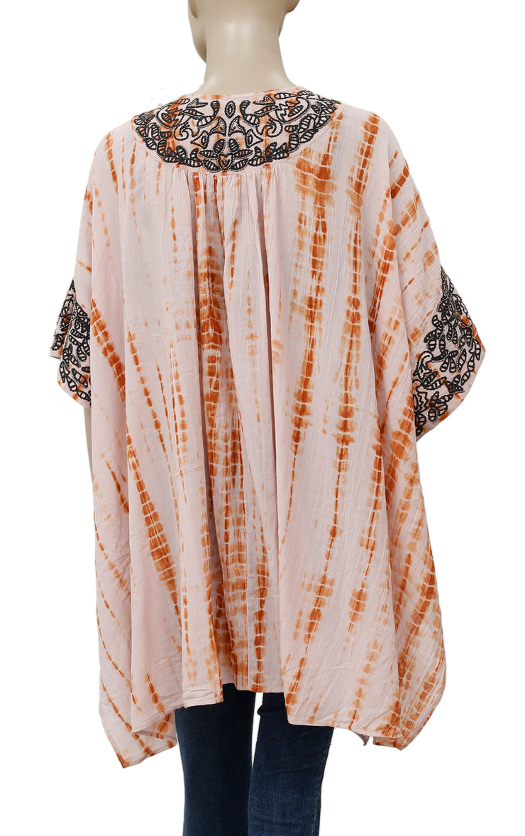 Free People Love Triangle Embellished Embroidered Robe Top S