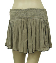 Free People Smocked Lace Green Mini Skirt S