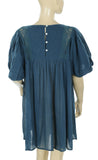 Free People Endless Summer Arosa Teal Tunic Dress S