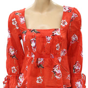 Free People Cherish The Light Printed Blouse Top M
