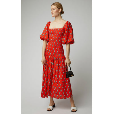 Rhode Resort Harper Dress Red Midi Dress XS