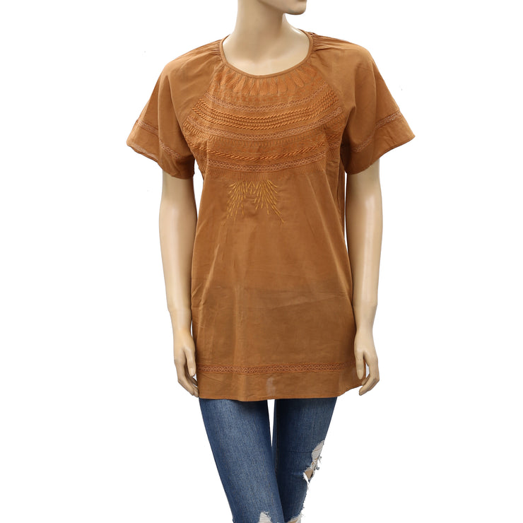 Bensimon Embroidered Tunic Top M 40