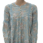 Denim & Supply Ralph Lauren Floral Printed Tunic Top Lace Boho XS