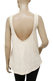 Ecote Embellished Ivory Blouse Top M