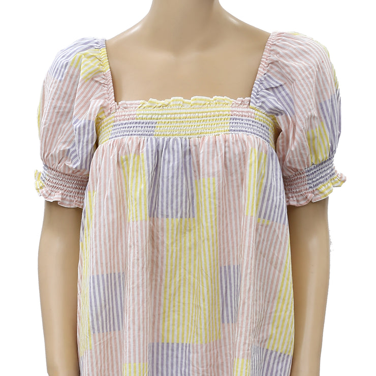 Urban Outfitters Puff Sleeve Babydoll Mini Dress S