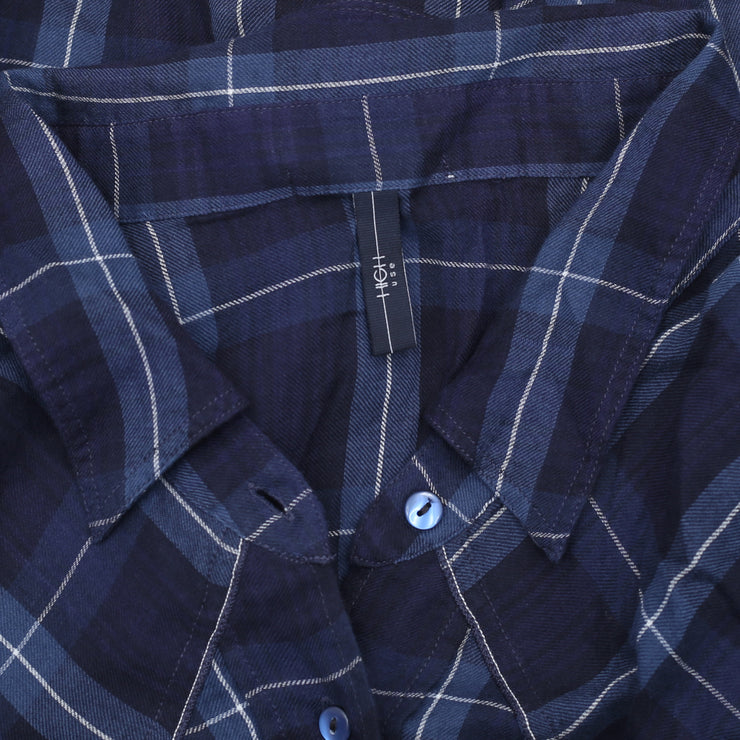 High Use Mulberry Check Fetching Brushed Shirt Top XL