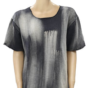 Free People Washed Tie & Dye Tee Blouse Top M