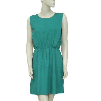 Des Petits Hauts Dot Embroidered Green Dress XS