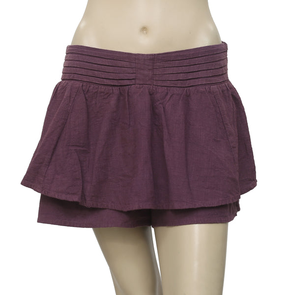 Free People Pleated Smocked Skorts Shorts S