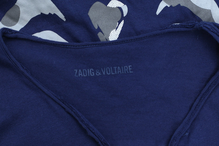 Zadig & Voltaire Tunisien MC Skull Printed T-Shirt Top L New