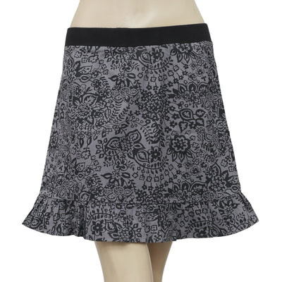 Desigual Floral Printed Black & Gray Kids Girls Skirt 11/12  Years