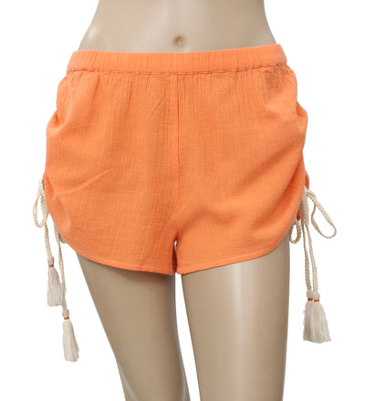 Free People Draw String Orange Shorts XS
