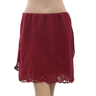IRO Eyelet Embroidered Mini Skirt M