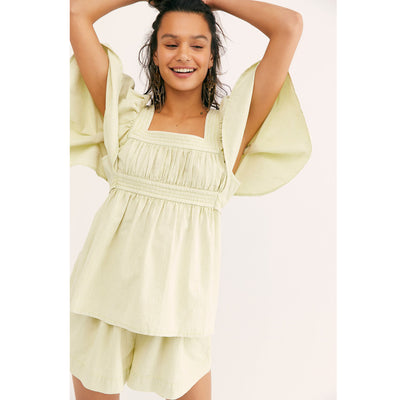Free People Trapunto Tunic Top